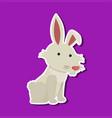 cute rabbit character sticker vector image vector image