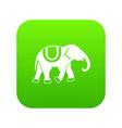 elephant icon digital green vector image