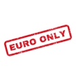 Euro Only Text Rubber Stamp vector image vector image