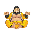 Fat Gorilla Buddha vector image vector image