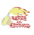 Fight for freedom logo vector image vector image
