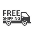 free shipping truck on white background vector image