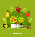 gardening tools flat composition vector image