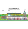 germany postdam city skyline architecture vector image vector image
