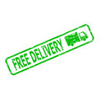 green rubber stamp free delivery cargo vector image vector image