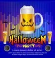 halloween party concept vector image vector image