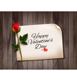 happy valentines day background with a note vector image