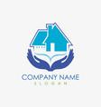 house care logo vector image