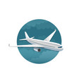 icon of airplane side view vector image vector image