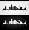 knoxville usa skyline and landmarks silhouette vector image vector image