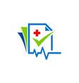 medic file check list logo vector image
