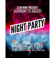 Modern Club Music Party Template Night Dance Party vector image vector image