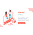 modern isometric people characters with goods vector image vector image