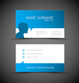 Modern simple blue business card template with