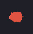 money box computer symbol vector image