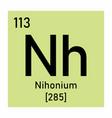 nihonium chemical symbol vector image vector image