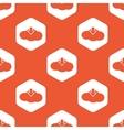 Orange hexagon cloud download pattern vector image vector image