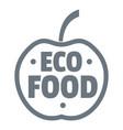 organic food logo vintage style vector image