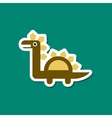paper sticker on stylish background dinosaur vector image