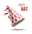 party hat holidays decorative accessory vector image vector image