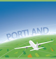 portland flight destination vector image vector image