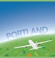 portland flight destination vector image vector image