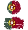 Portuguese round and square grunge flags vector image vector image