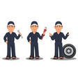 professional auto mechanic in uniform vector image