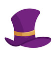 purple cylinder hat isolated on white background vector image vector image