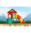 Scene with playground in the park vector image vector image