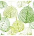Seamless floral pattern with leaves vector image vector image
