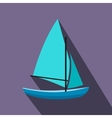 Ship yachts flat icon vector image