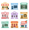 shop fronts collection exterior design vector image vector image