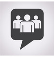 speech bubble group people icon vector image vector image