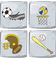 sports theme vector image vector image