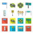 stands and signs and other web icon in cartoon vector image
