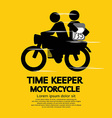 Time Keeper Motorcycle vector image vector image