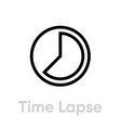 time lapse icon editable outline vector image
