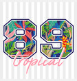 tropical print vector image
