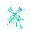 turbine icon design vector image vector image