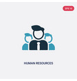 two color human resources icon from strategy vector image vector image