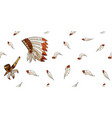 warbonnet on white background rough festival vector image vector image