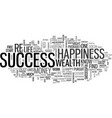what is success anyway text word cloud concept vector image vector image