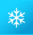 white snowflake on gradient background icon vector image vector image