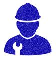 worker icon grunge watermark vector image vector image