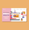 young male character is working as email vector image vector image