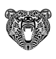 Zentangle stylized bear Sketch for tattoo or t vector image vector image