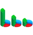 Glass business graphs vector image
