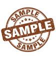 sample brown grunge round vintage rubber stamp vector image