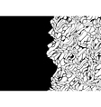 abstract shape background pattern in black white vector image vector image